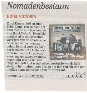 recensie Telegraaf 13 febr. 2016