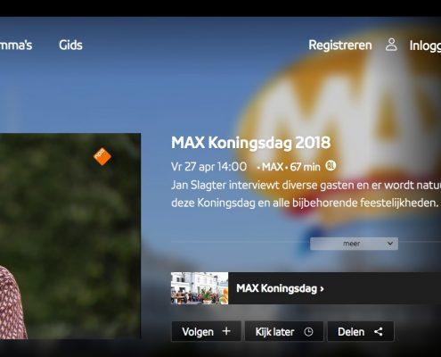 Max Koningsdag 2018, NPO 1