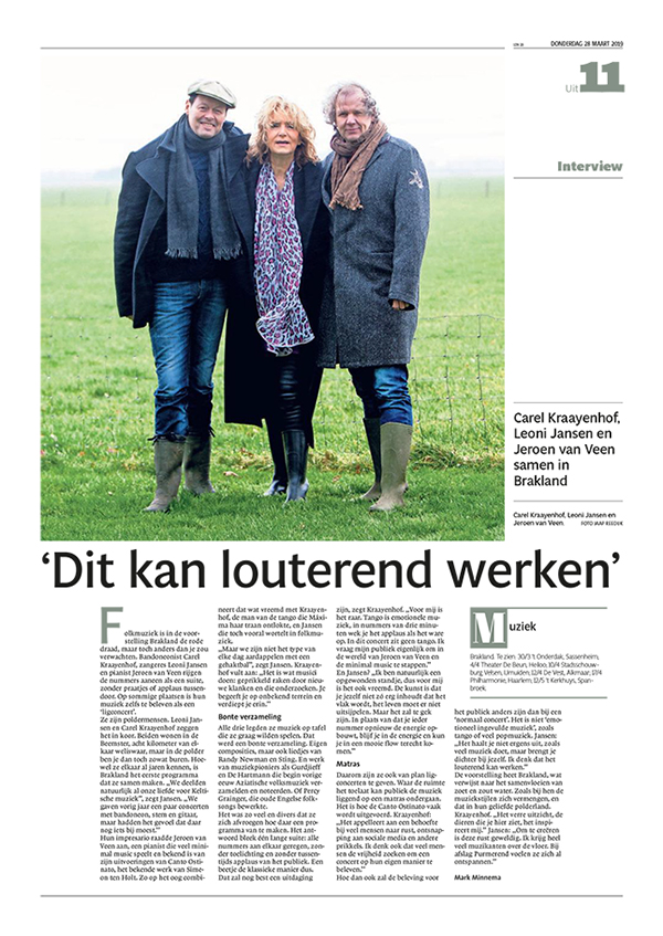 Interview in Noordhollands Dagblad