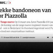 NRC: De lekke bandoneon van Astor Piazzolla