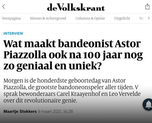 Interview met de Volkskrant